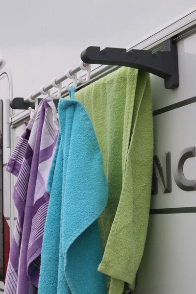 Wäschesystem für Kederschiene am Wohnwagen